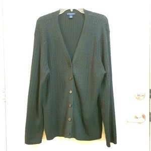 WESTBOUND L Black Knit Button Up Cardigan Sweater